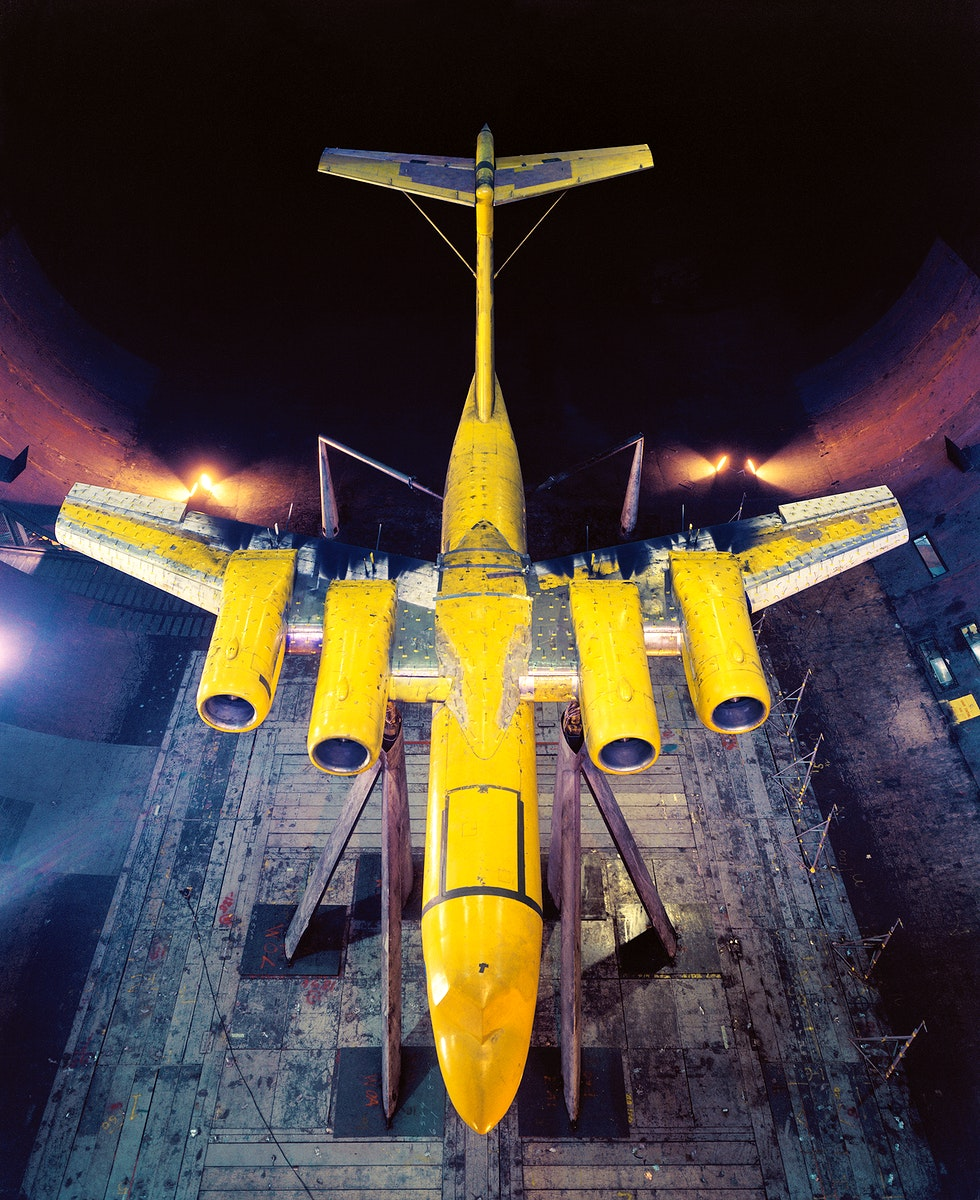 Four Engine USB Model in the 40x80 foot Wind Tunnel. Large-Scale Upper-Surface Blowing Model using JT15D Engines. Test #441…
