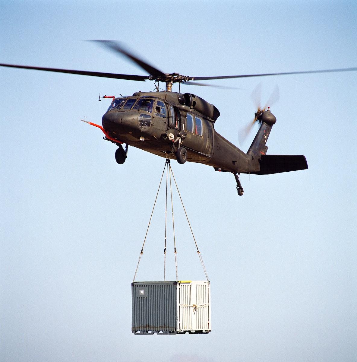 UH-60 (NASA-748) Sling Load Test for Dynamic Response. Original from NASA. Digitally enhanced by rawpixel.