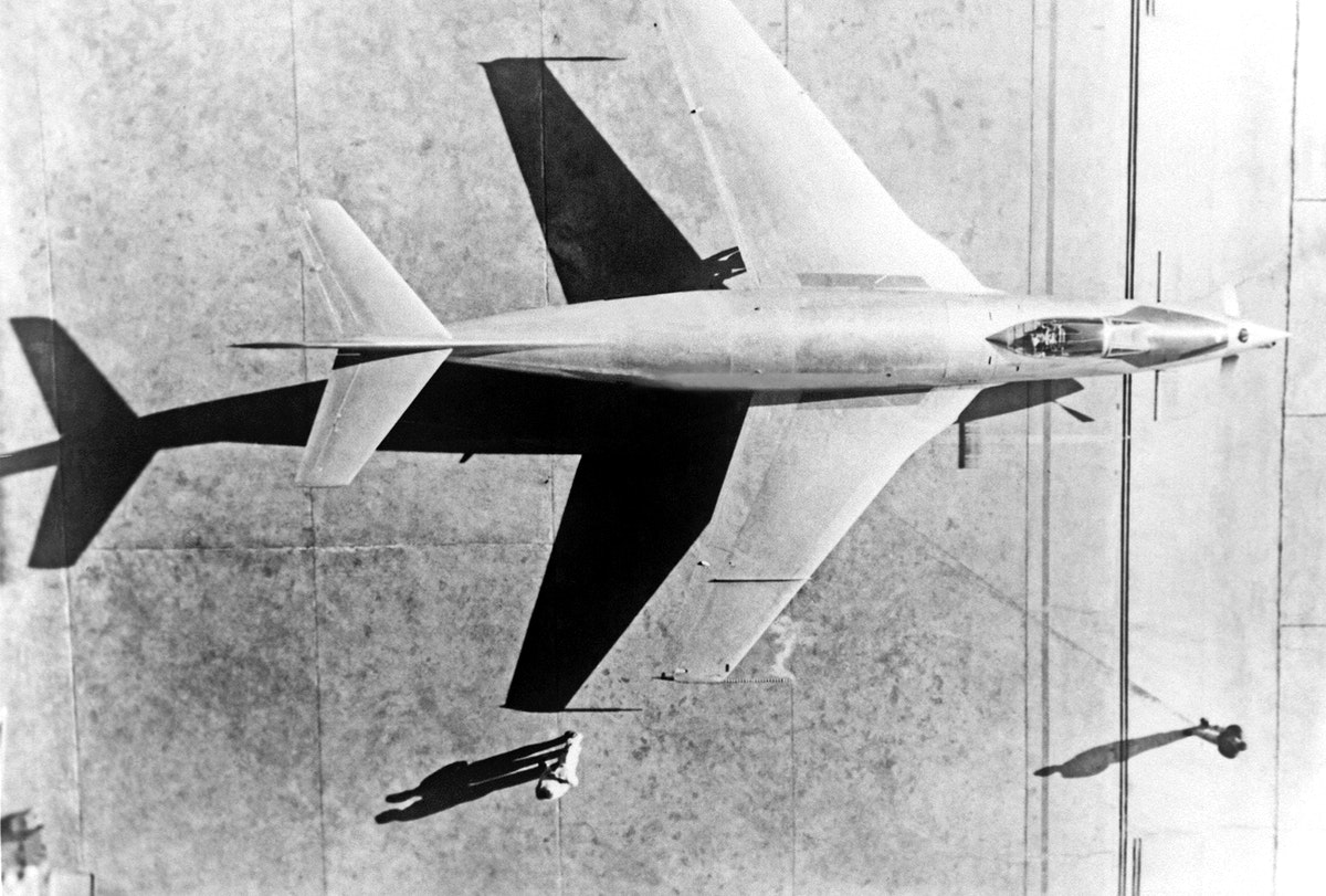 91,591 Overhead view of McDonnell XF-88B Experimental Jet Fighter. Original from NASA. Digitally enhanced by rawpixel.