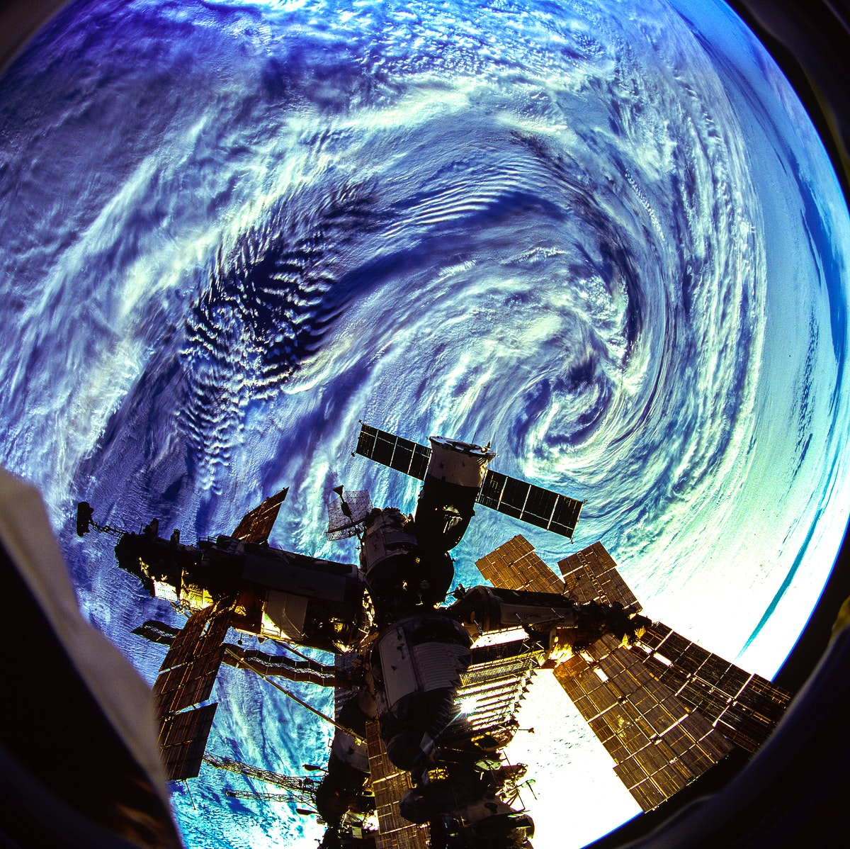 The Russian Mir Space Station is backdropped over a storm in the Roaring 40's near Heard Island in the south Indian Ocean.…
