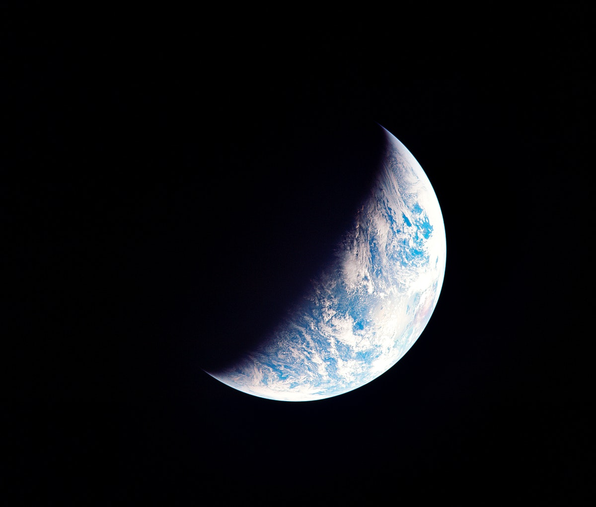 View of the Earth seen from the Apollo 12 spacecraft. Original from NASA. Digitally enhanced by rawpixel.