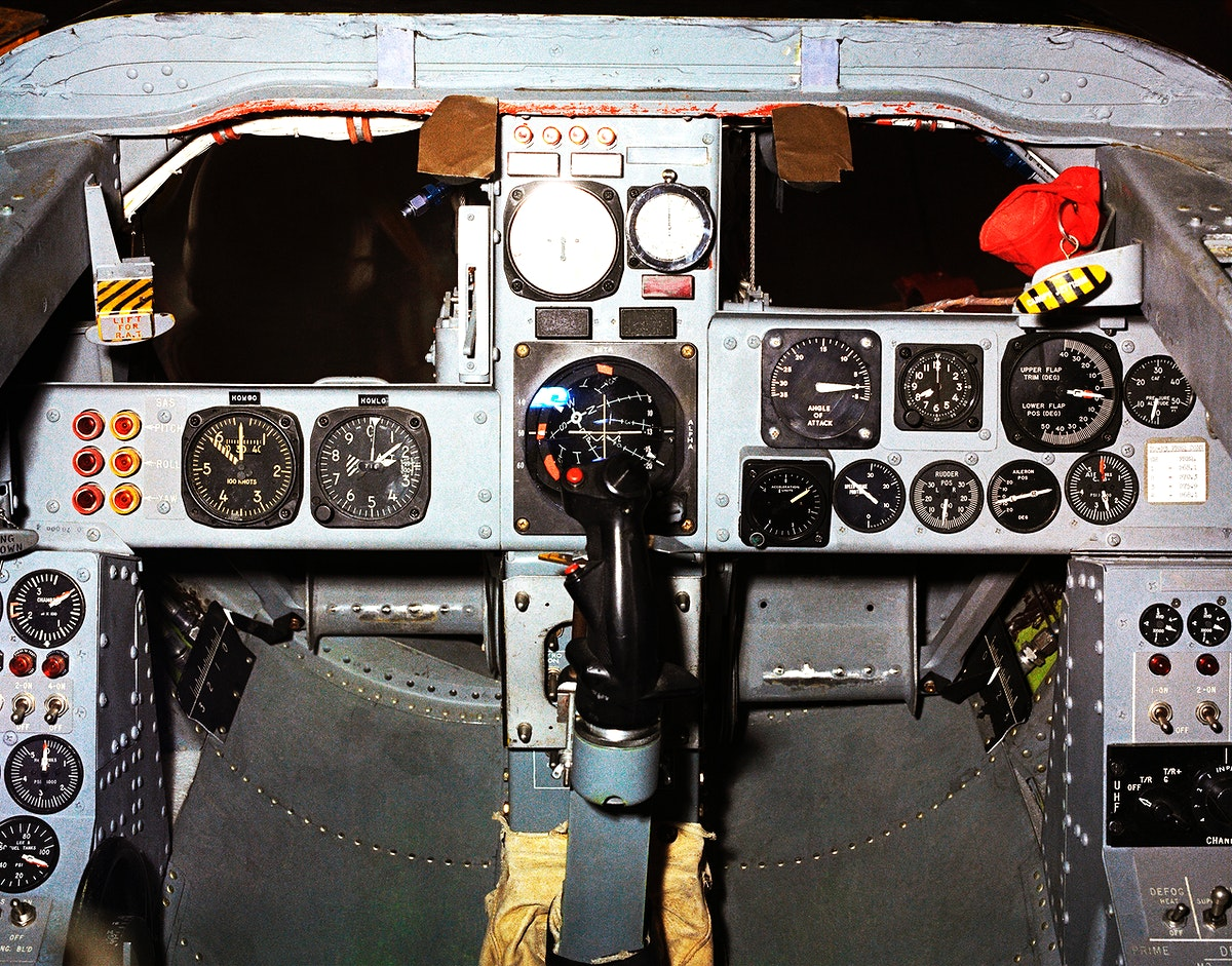 This photo shows the cockpit instrument panel of the M2-F3 Lifting Body. Original from NASA. Digitally enhanced by rawpixel.