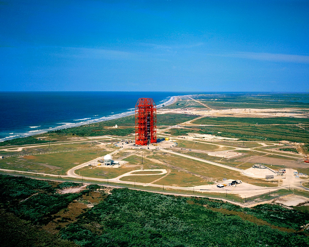 Aerial photo, Pad 34 overall, low-level from south. Original from NASA. Digitally enhanced by rawpixel.