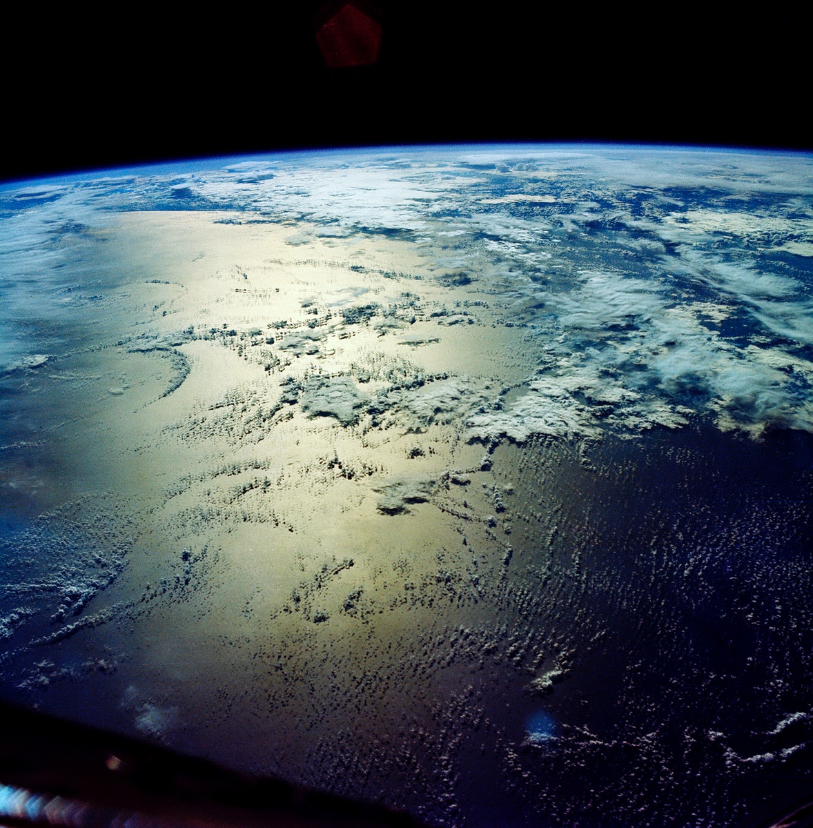 Area of Indian Ocean just east of the island of Madagascar. Original from NASA. Digitally enhanced by rawpixel.