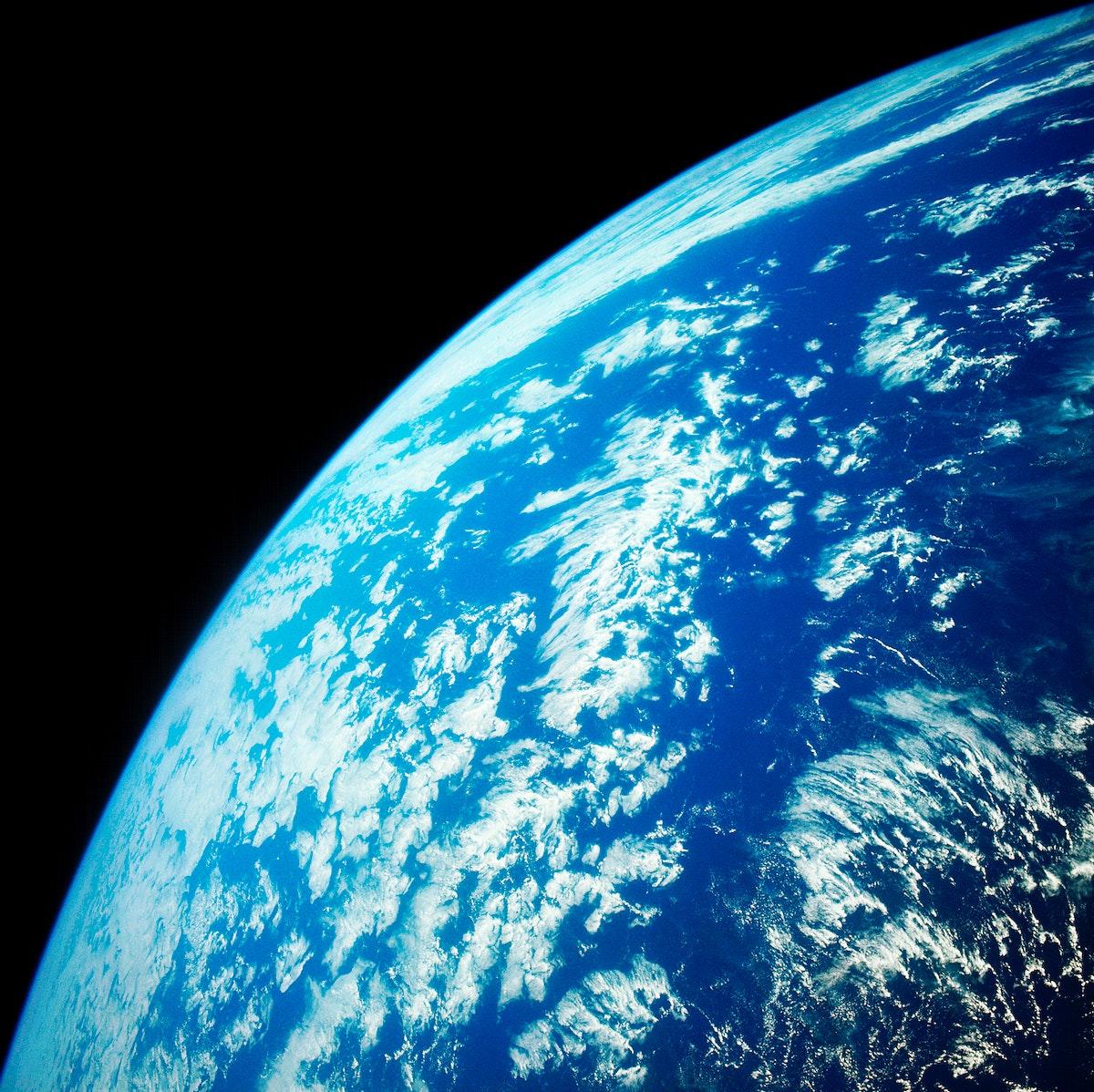 Gemini Titan GT-11 photo of earth sky. Original from NASA. Digitally enhanced by rawpixel.