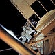 Astronaut Owen K. Garriott, Skylab 3 science pilot, retrieves an imagery experiment from the Apollo Telescope Mount (ATM) attached to the Skylab in Earth orbit. Original from NASA. Digitally enhanced by rawpixel.