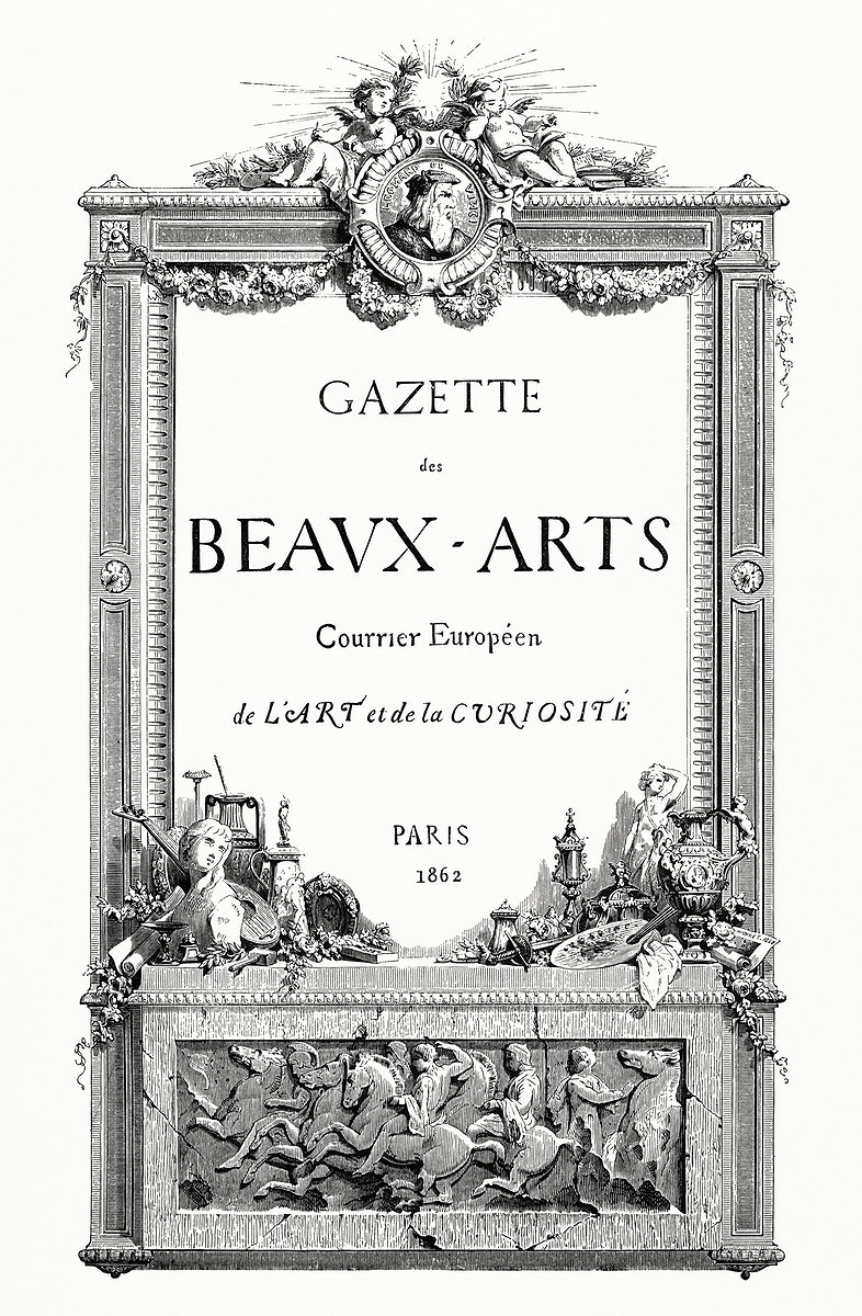 Cover of Gazette Des Beaux-Arts in a year 1862 (1862) from Gazette Des Beaux-Arts, a French art review. Digitally enhanced…