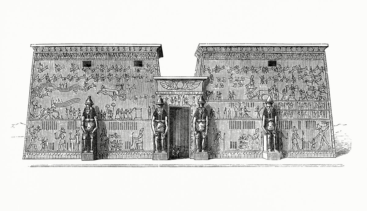 Predominance of the Dimension in Width of an Indian Temple (1862) from Gazette Des Beaux-Arts, a French art review. Digitally…