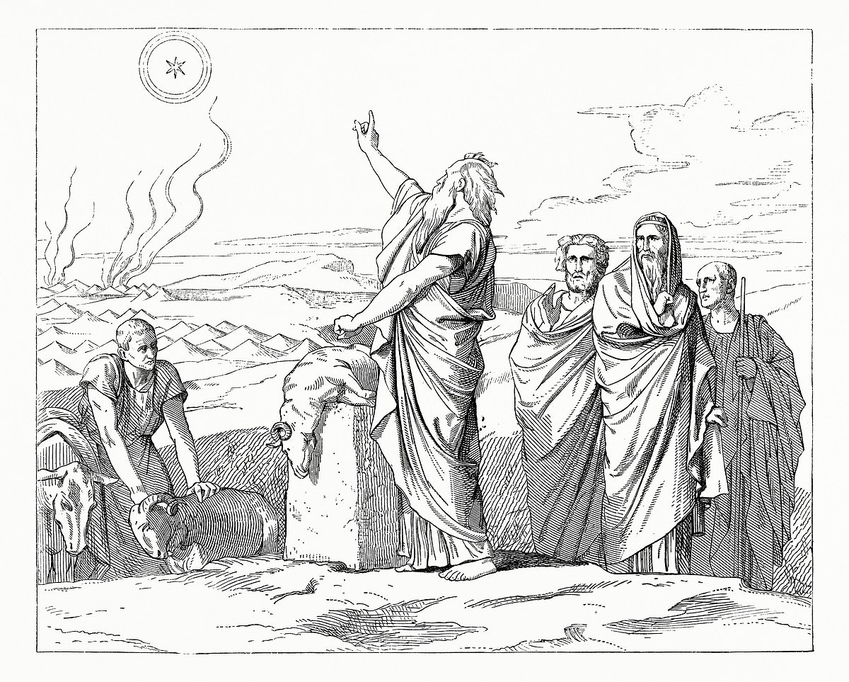 Vintage illustration of Appearance of the Star in Balaam