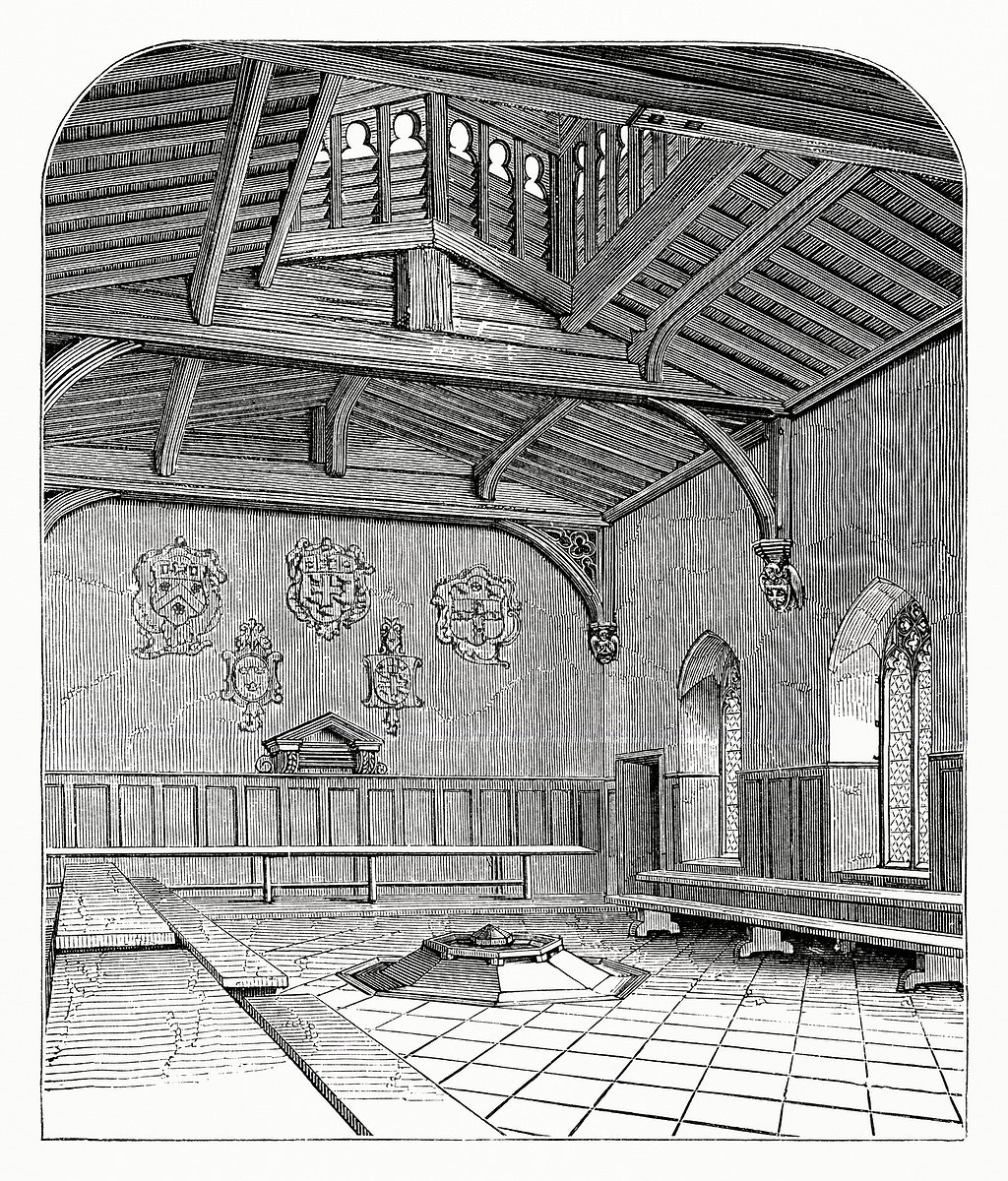 Fire and Louvre Hall of the Westminster School (1862) from Gazette Des Beaux-Arts, a French art review. Digitally enhanced…