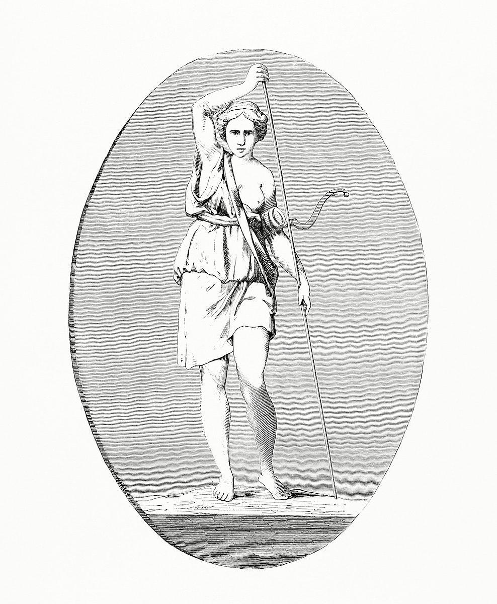 Vintage illustration of Greek Woman