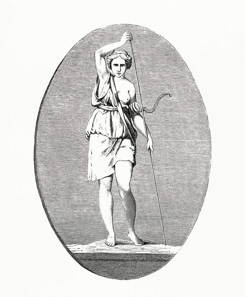 Greek Woman (1862) from Gazette Des Beaux-Arts, a French art review. Digitally enhanced from our own facsimile book.