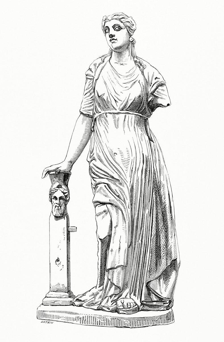 Vintage illustration of Figurine Trouvées A Ardée