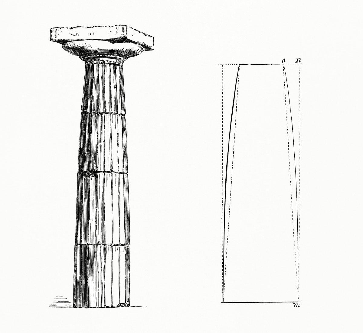 Vintage illustration of Column Design