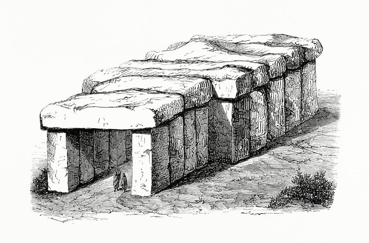 Vintage illustration of Druidic Monument of Rock-Fairy