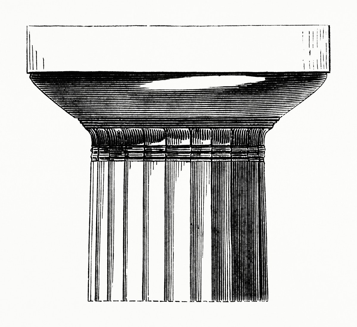 Closeup of a Column Head (1862) from Gazette Des Beaux-Arts, a French art review. Digitally enhanced from our own facsimile…