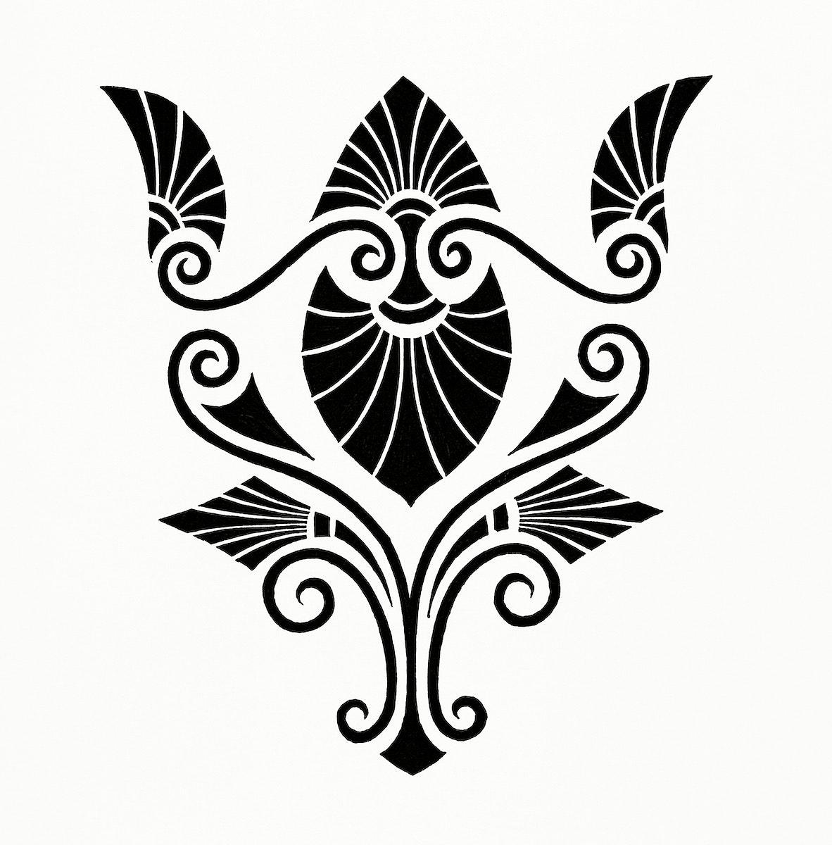 Vintage illustration of Elegant Decorative Design