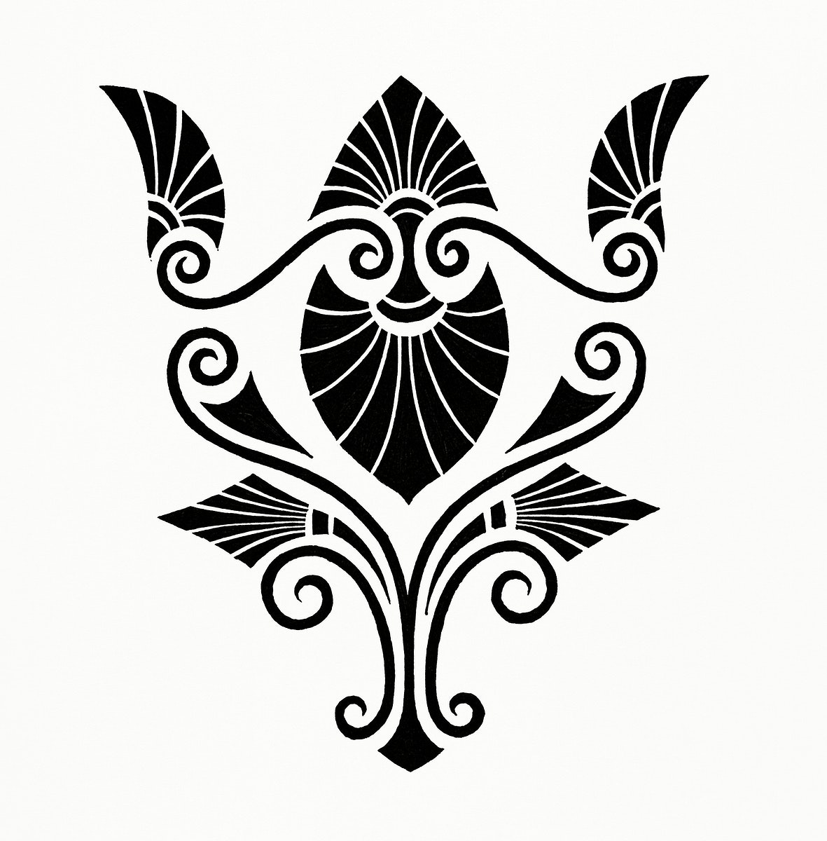 Elegant Decorative Design (1862) from Gazette Des Beaux-Arts, a French art review. Digitally enhanced from our own facsimile…