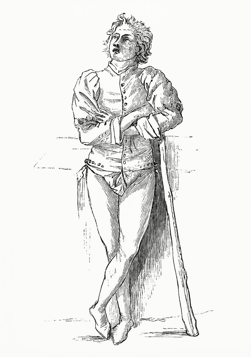 Peasant Boy (1862) from Gazette Des Beaux-Arts, a French art review. Digitally enhanced from our own facsimile book.