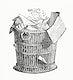 Vintage illustration of Bin Basket