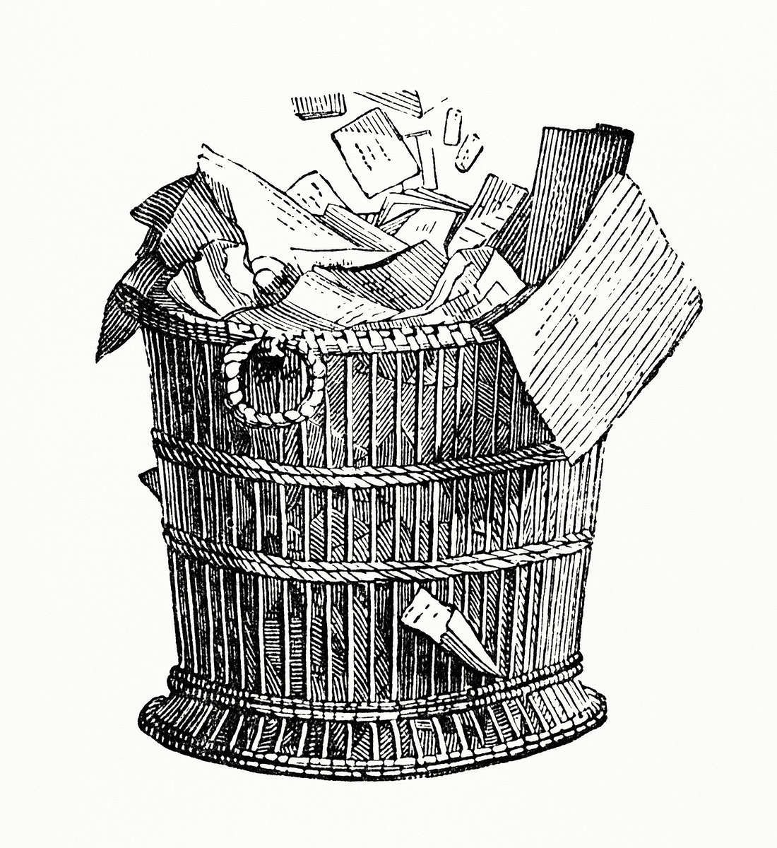 Bin Basket (1862) from Gazette Des Beaux-Arts, a French art review. Digitally enhanced from our own facsimile book.