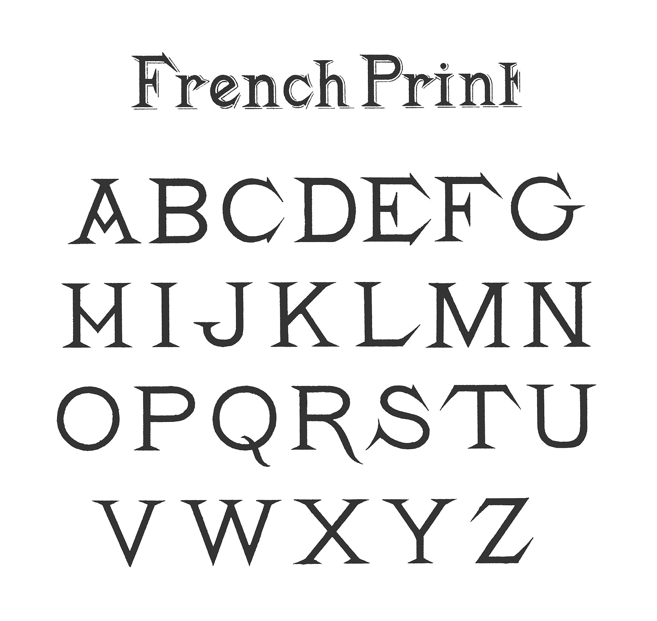 French style fonts from Draughtsman's Alphabets by Hermann