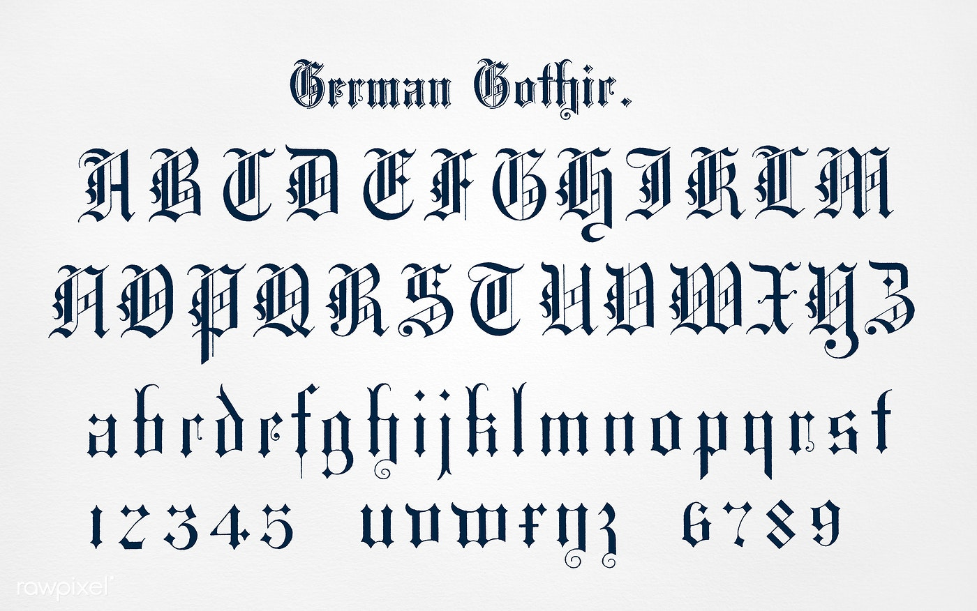 German style calligraphy fonts from Draughtsm   | Free