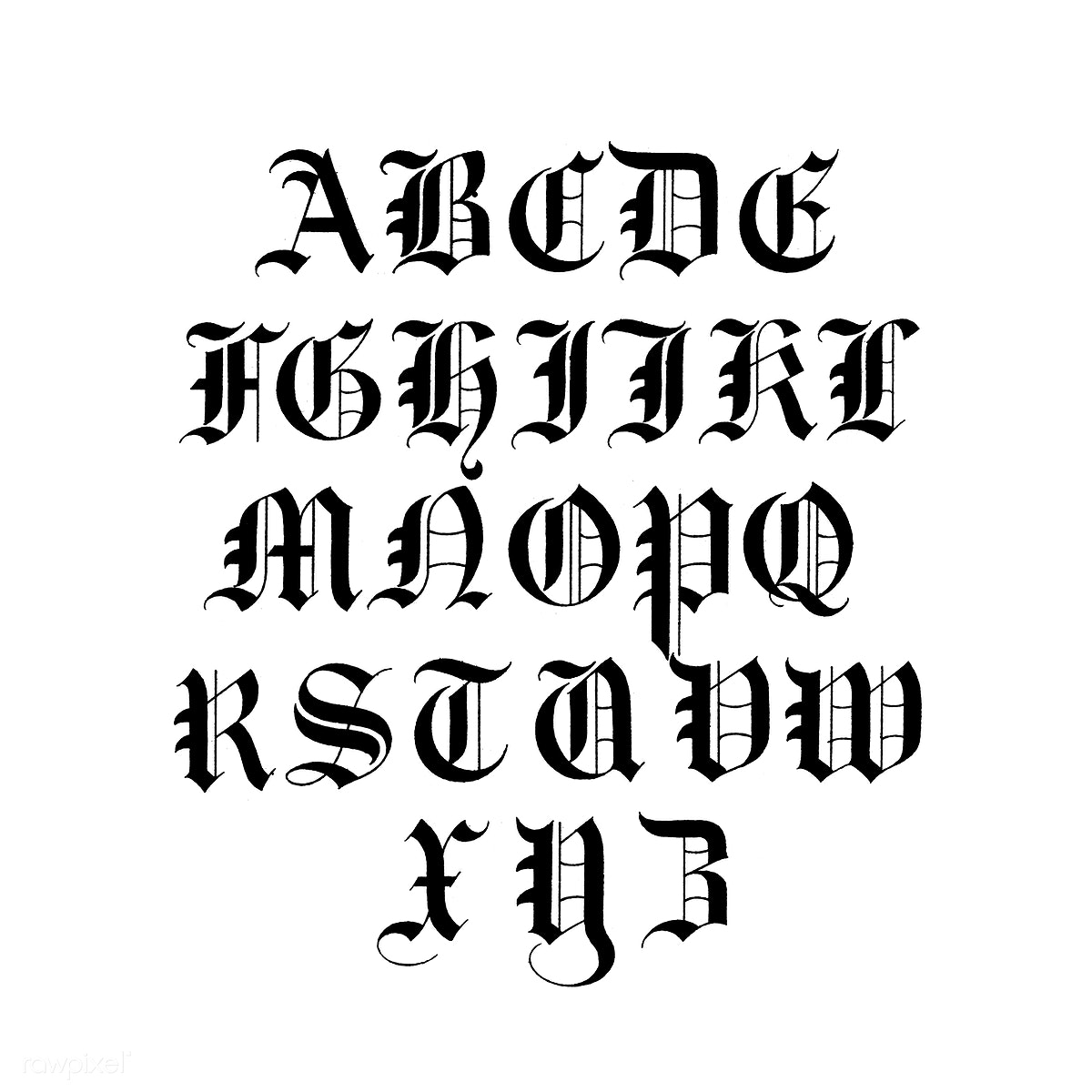 Old English calligraphy fonts from Draughtsma   | Free stock