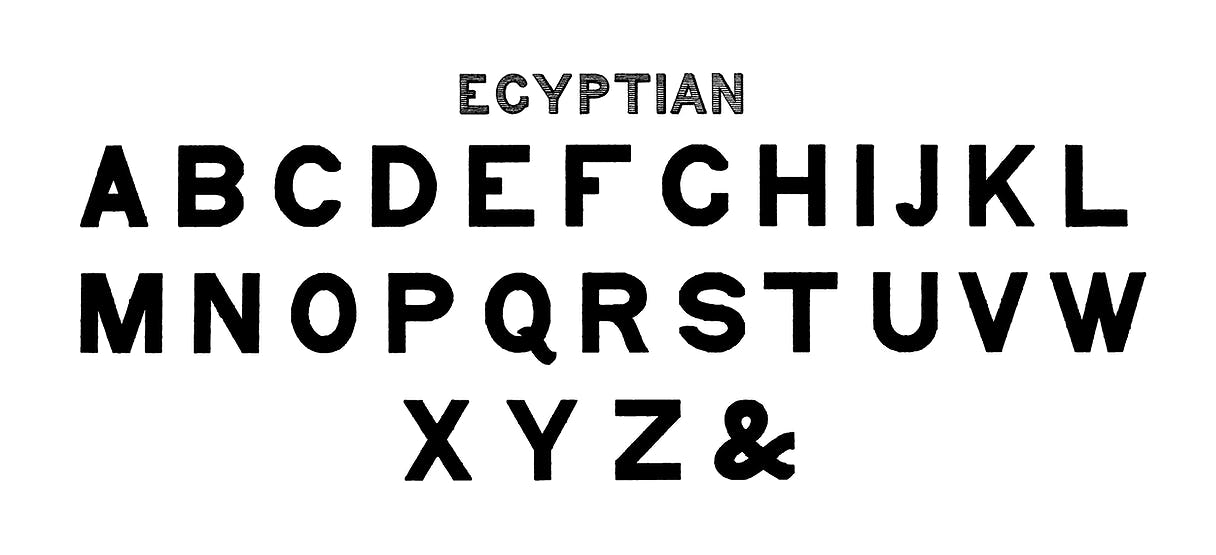 Egyptian Style Calligraphy Fonts From Draughtsmans Alphabets By Hermann Esser 1845ndash1908