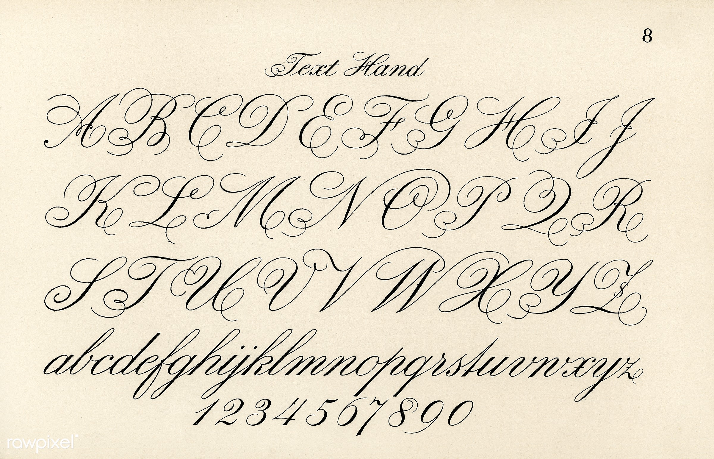 Cursive Fonts From Draughtsmans Alphabets By Hermann Esser 1845 1908 Digitally Enhanced Our Own 5th Edition Of The Publication