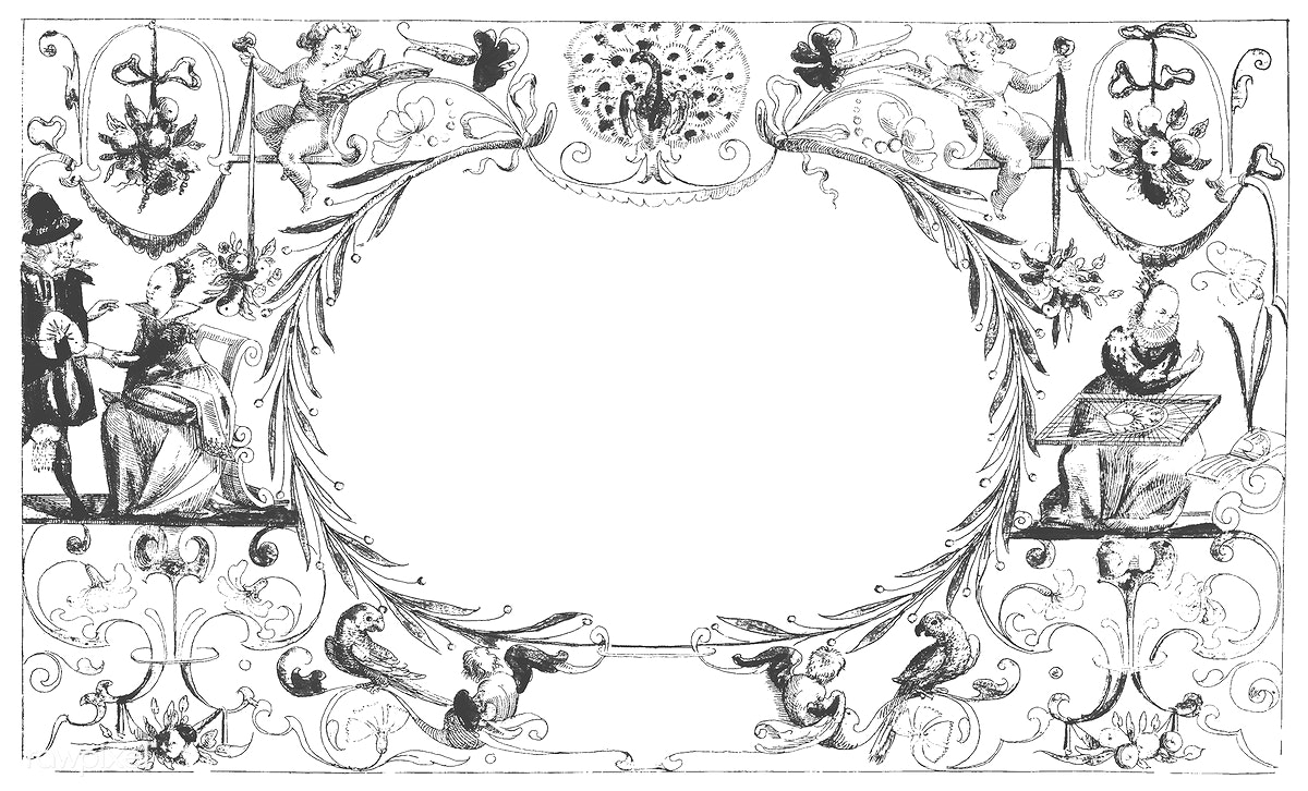 Download premium illustration of Vintage ornaments from the public domain