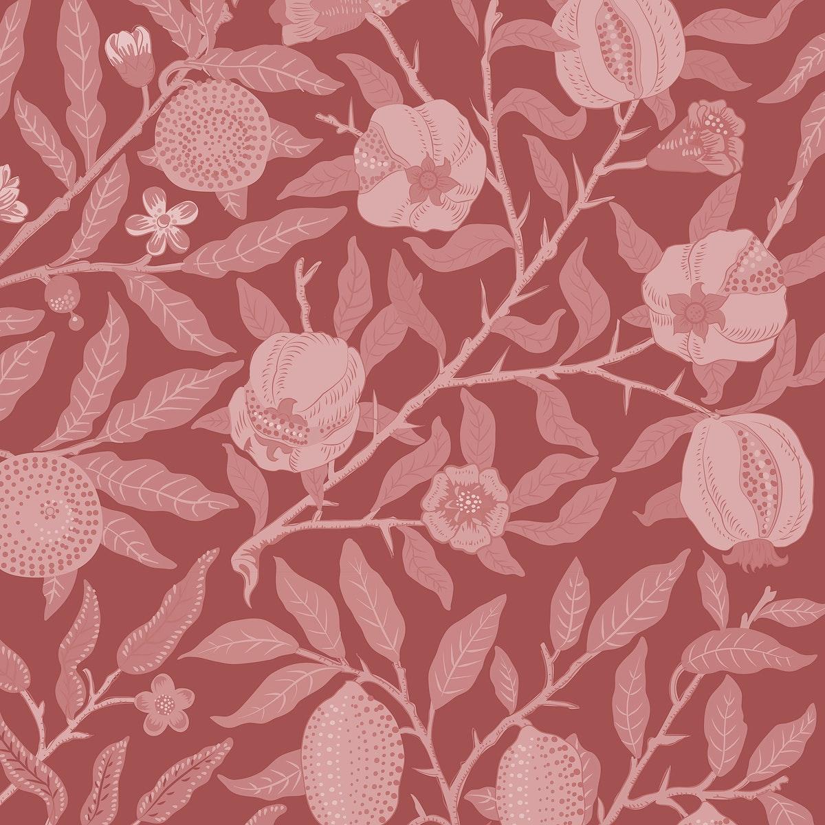 Vintage Illustration of Fruit or Pomegranate