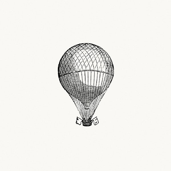 Vintage Hot Air Balloon Illustration Royalty Free Illustration 539766