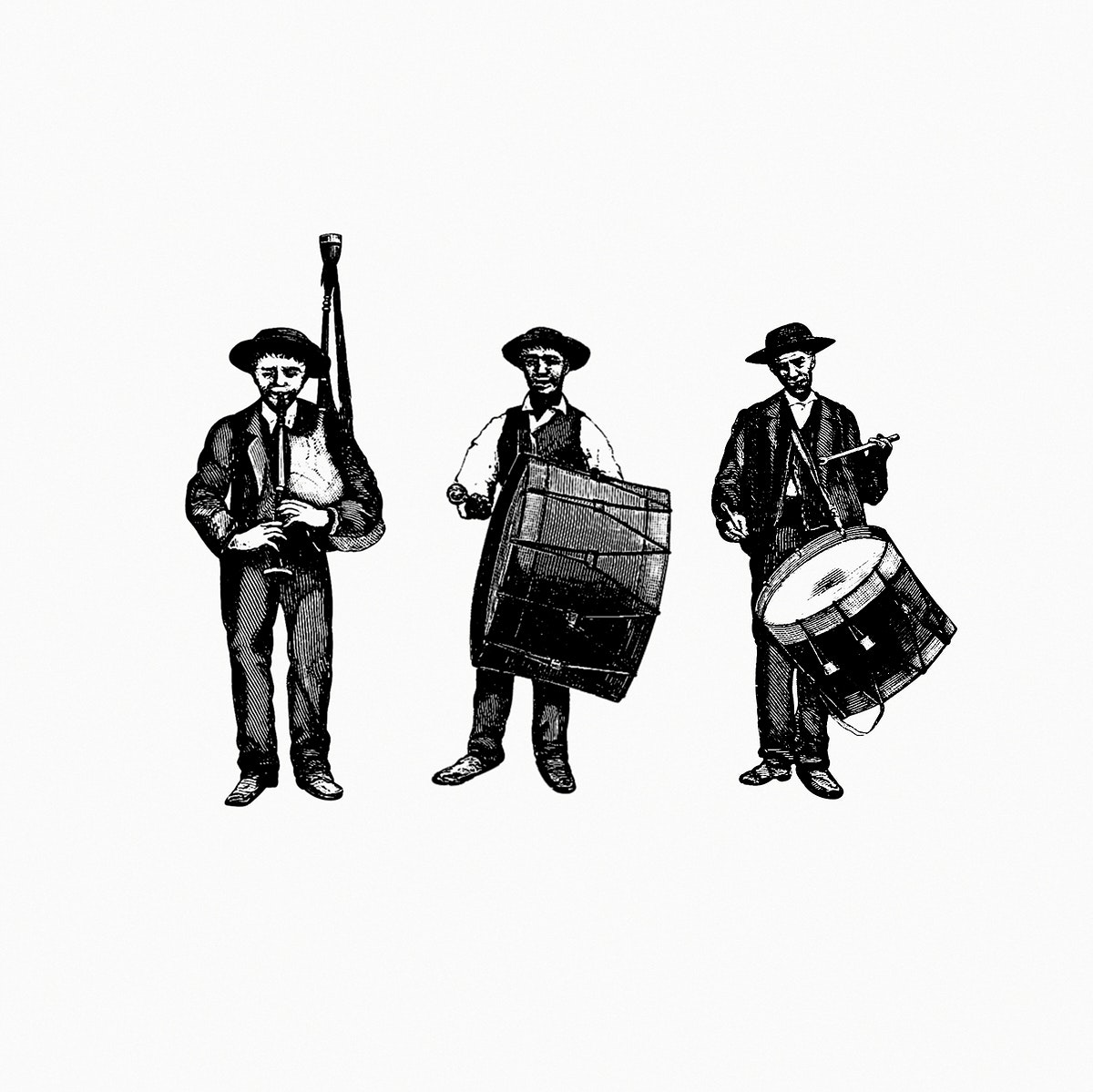 Marching band from The Minho Pittoresco. Luxury Edition, Illustrated With... illustrated by João de Almeida (1886).…