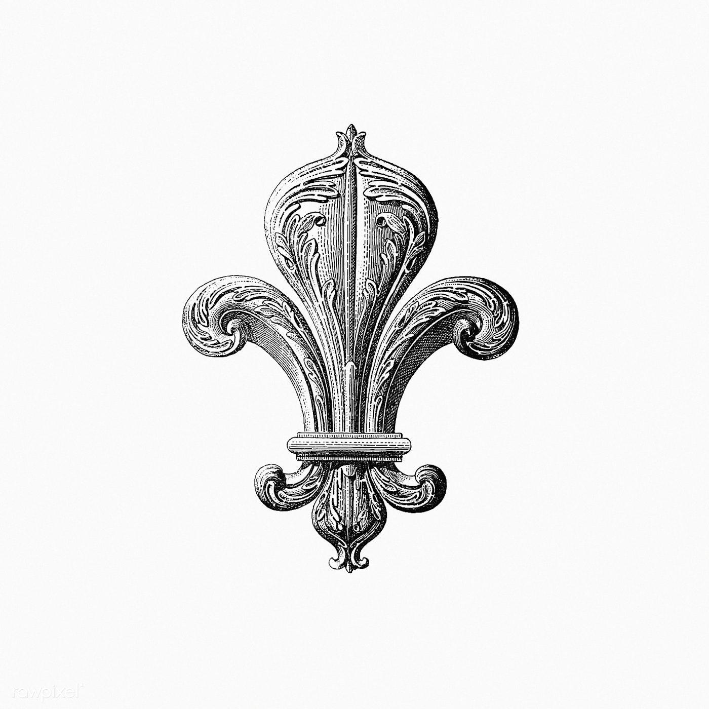 Download Premium Illustration Of Drawing Of A Fleur De Lys 571703