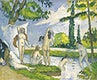 """Bathers (ca. 1874&ndash;1875) by <a href=""""https://www.rawpixel.com/search/Paul%20Cezanne?sort=curated&amp;type=all&amp;page=1"""">Paul C&eacute;zanne</a>. Original from The MET Museum. Digitally enhanced by rawpixel."""