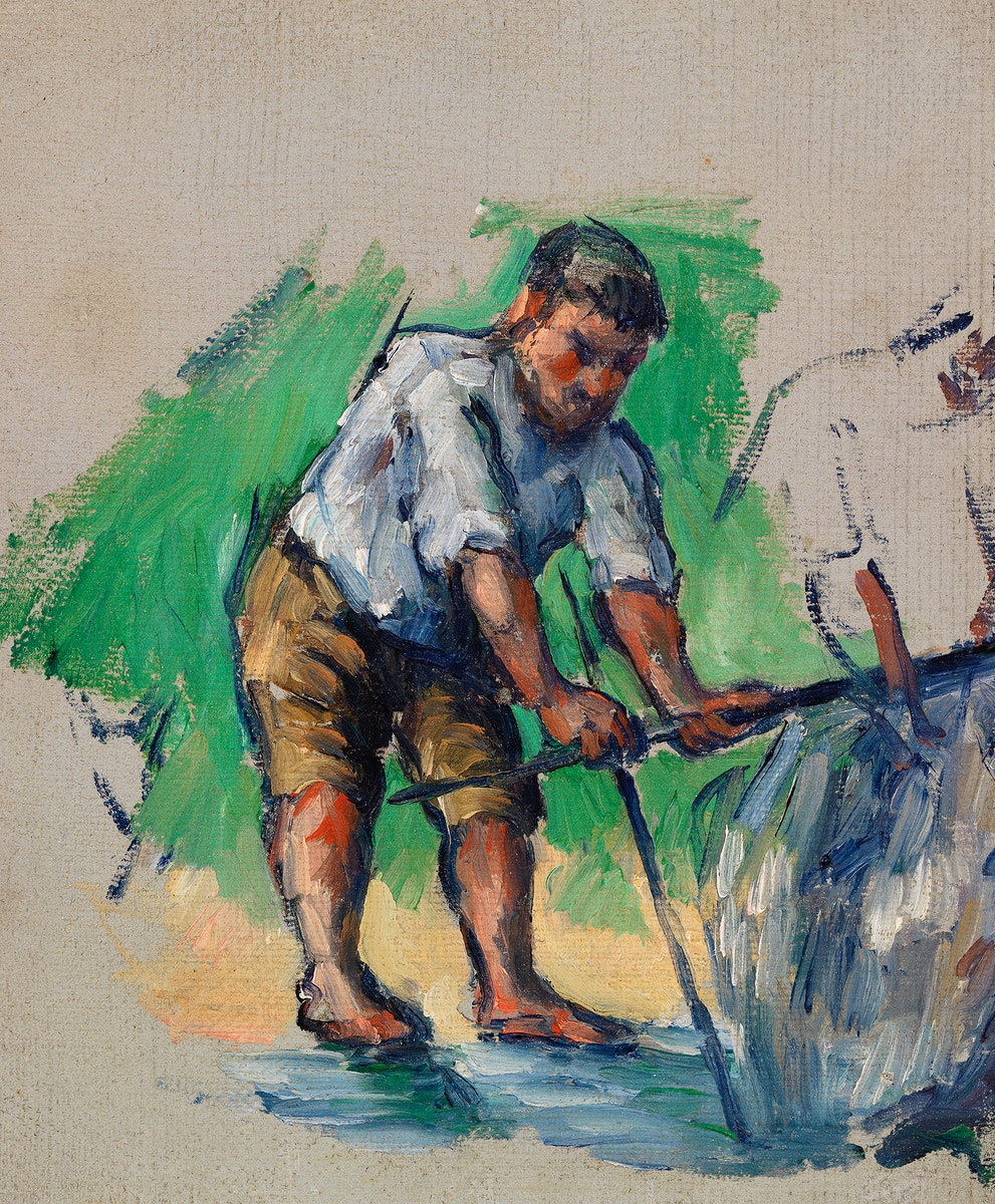 The Well Driller (Le Foreur) (ca. 1873–1874) by Paul Cézanne. Original from Original from Barnes Foundation.…