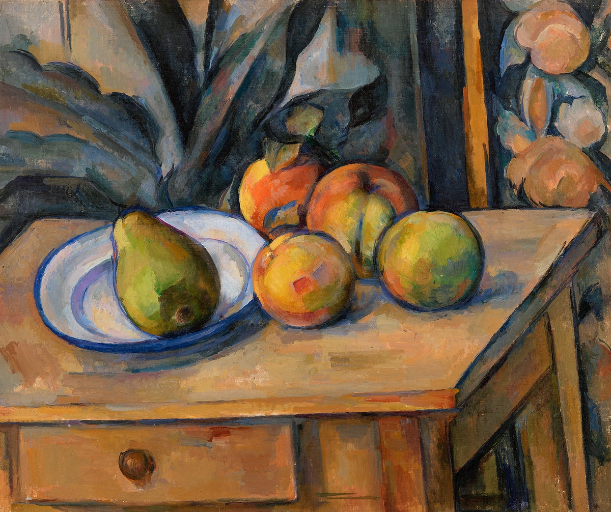 The Large Pear (La Grosse poire) (ca. 1895–1898) by Paul Cézanne. Original from Original from Barnes Foundation.…