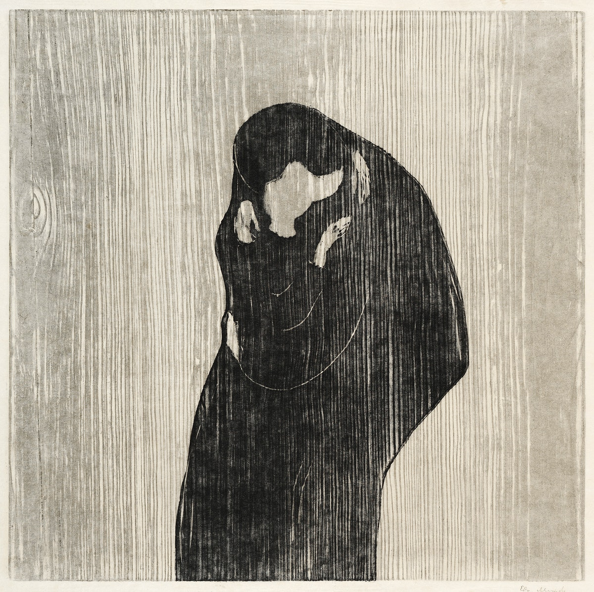 The Kiss IV (1902) by Edvard Munch. Original from The MET Museum. Digitally enhanced by rawpixel.