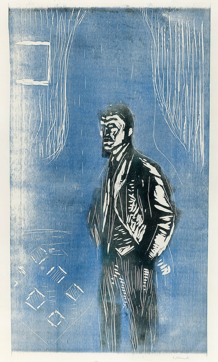 Self–Portrait in Moonlight (ca. 1904–1906) by Edvard Munch. Original from The Art Institute of Chicago. Digitally…