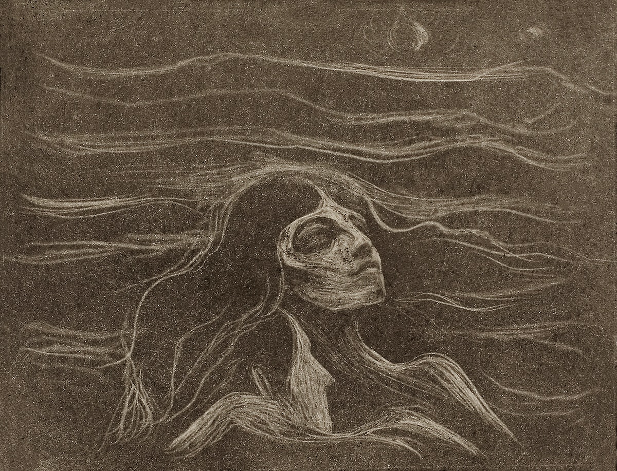 On the Waves of Love (1896) by Edvard Munch. Original from The Art Institute of Chicago. Digitally enhanced by rawpixel.