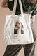 White tote bag psd mockup with woman illustration remix from the artworks by Garcia Calderon