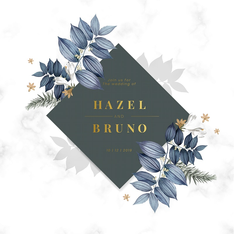 Vintage Floral Invitation Templates Rawpixel