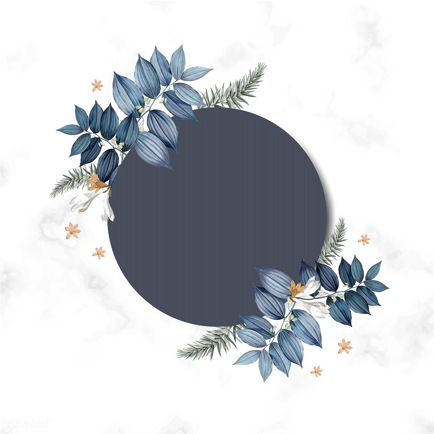 Download Premium Vector Of Empty Floral Invitation Card Design Vector