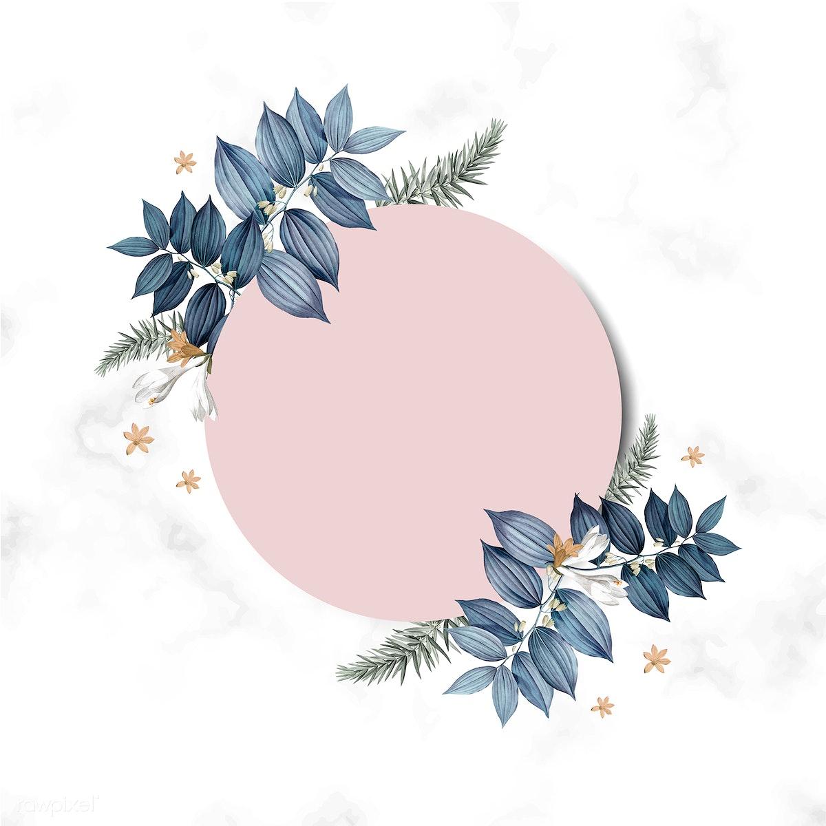 Download Premium Illustration Of Empty Floral Invitation Card Design