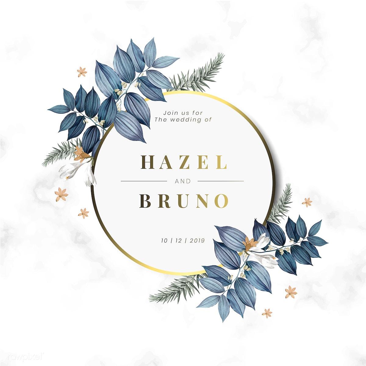 Download Premium Illustration Of Floral Wedding Invitation Card Design