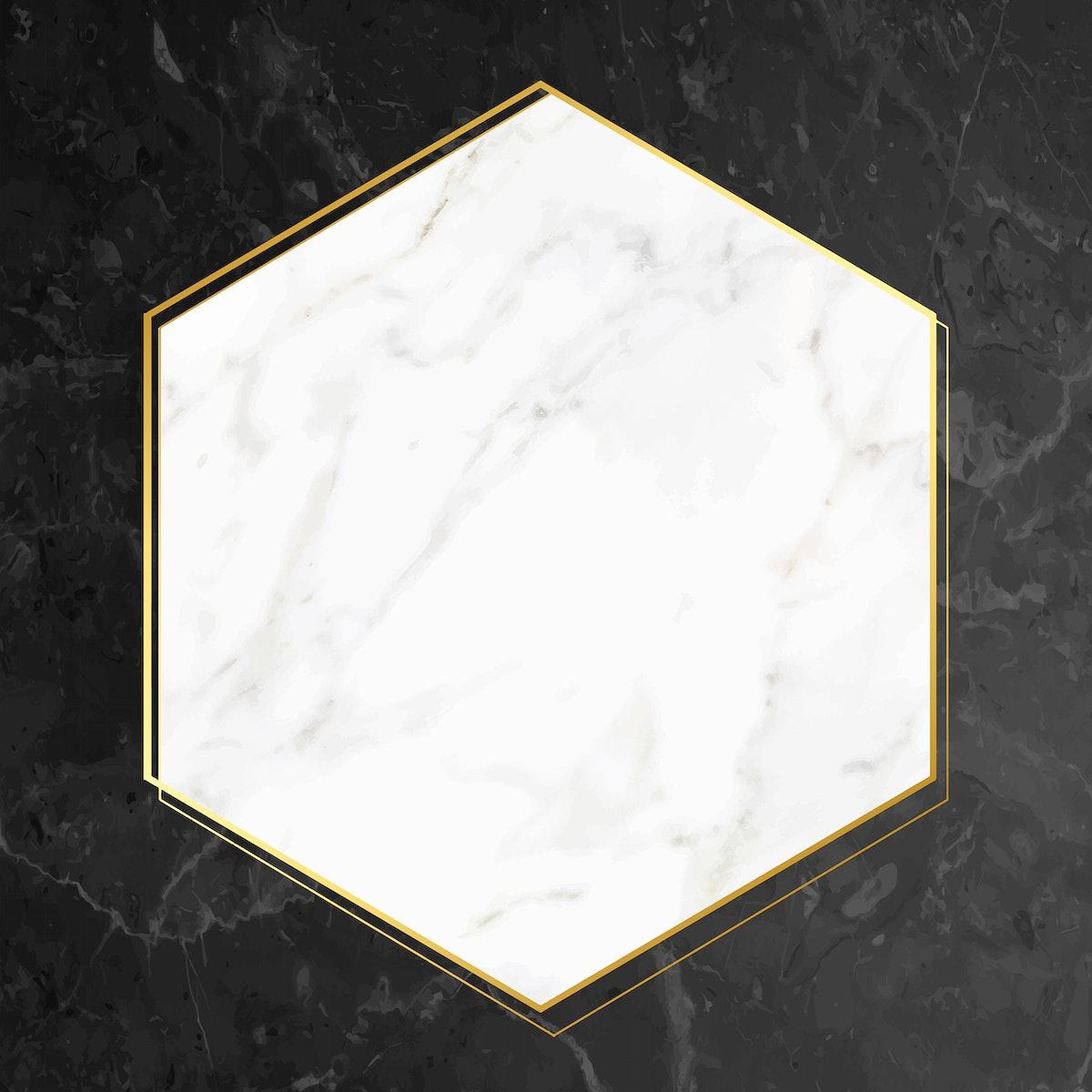 Blank marble textured frame vector