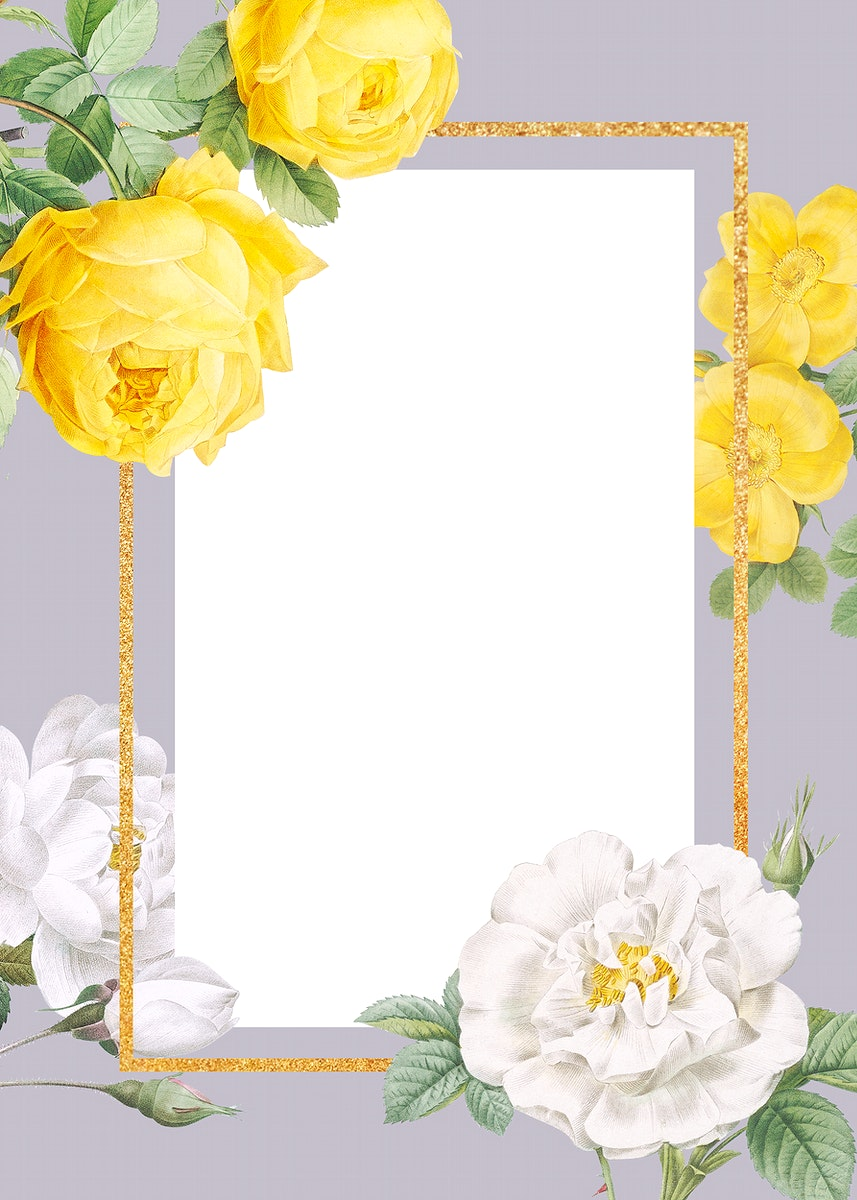 Floral wedding invitation mockup illustration