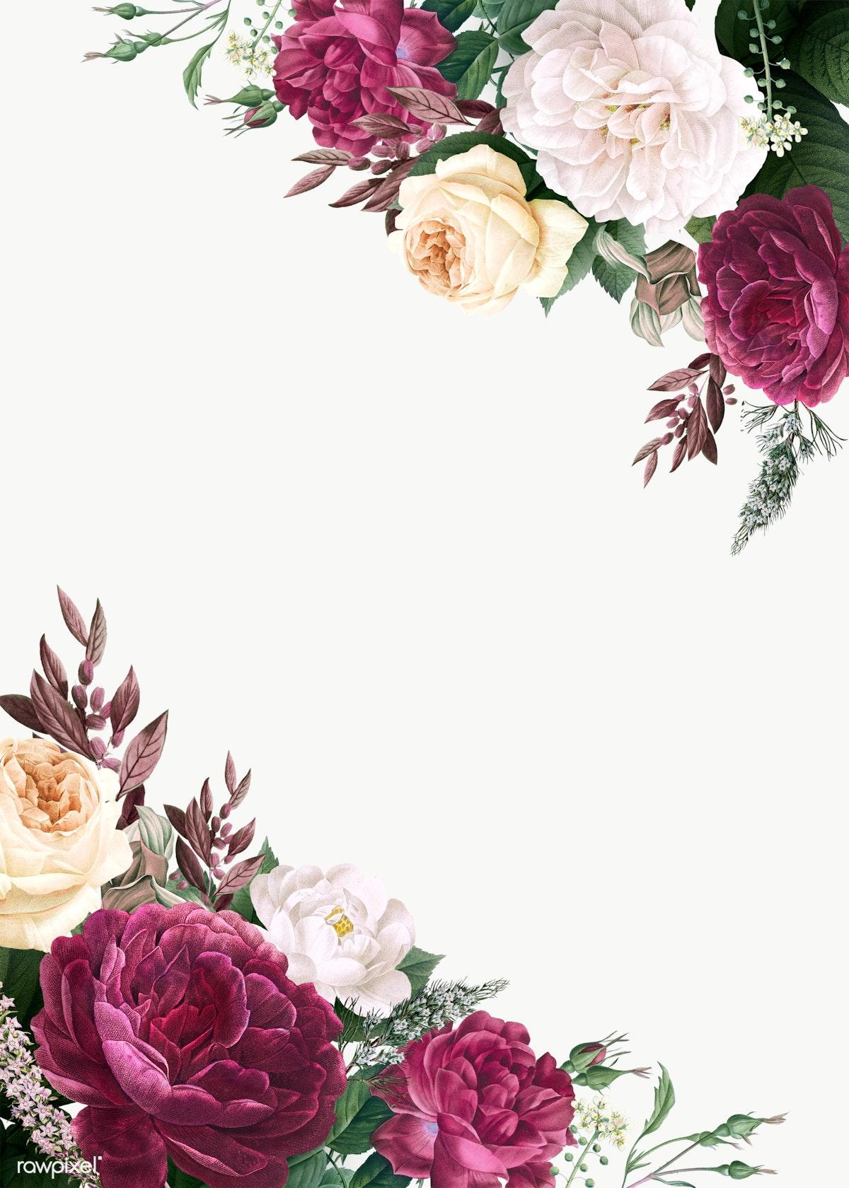 Download premium png of Floral wedding invitation mockup transparent png