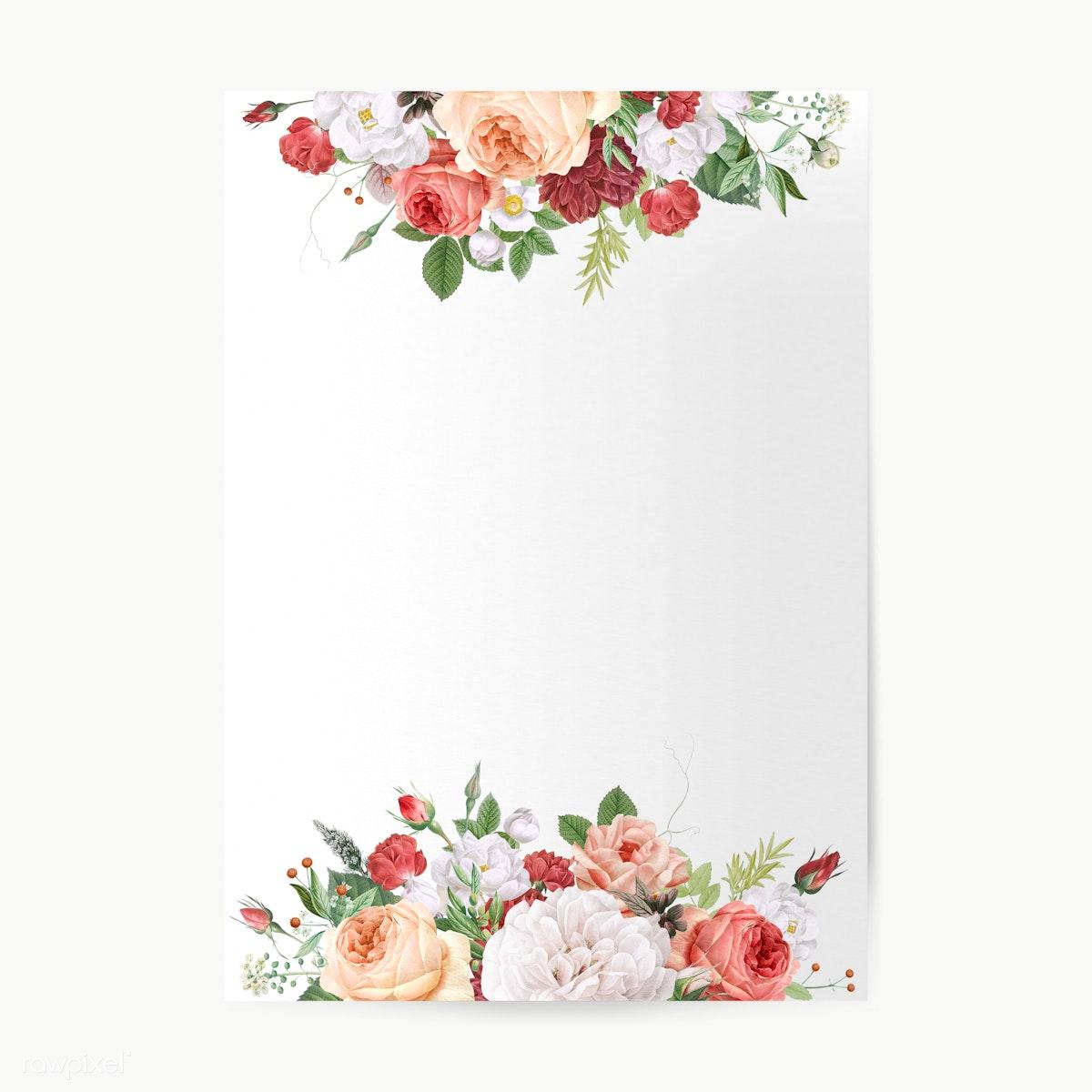 Floral Wedding Invitations.Floral Design Wedding Invitation Mockup Royalty Free Stock